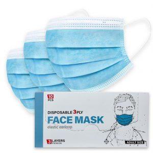 Medizinische Mund-Nasenschutzmaske (MNS), Reiseset-Box, 3-lagig (Maskenaktion Euro 2020)