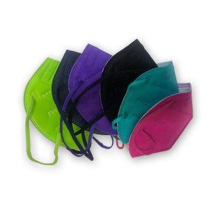 Farbige FFP2-Maske, CE-zertifizierte Maske, hoher Filterleistung, 3-lagig (Maskenaktion Euro 2020)