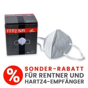 10 x FFP2-Maske, CE-zertifizierte Maske, sehr hoher Filterleistung, 5-lagig (Sonderangebot für Rentner/HartzIV-Empfänger)