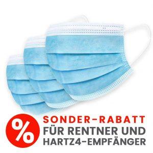 10 x Medizinische OP-Maske, CE zertifiziert, 3-lagig (Sonderangebot nur für Rentner/HartzIV-Empfänger)